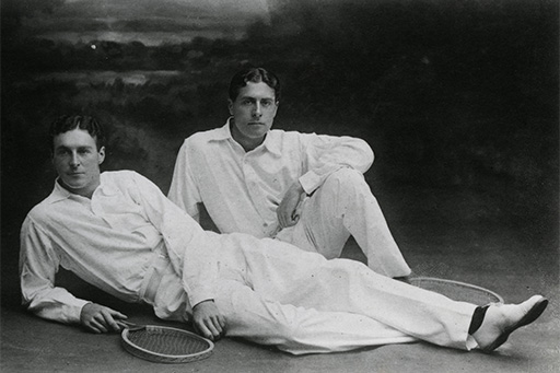 Reggie and Laurie Doherty Brothers.Men's Tennis .Portrait.TBC DATE...
